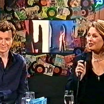 Kim singing 'Together forever' on Musikbutikken, November 3, 2001