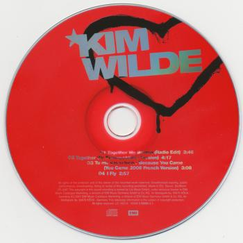 CD label of 'Together we belong', featuring 'Tu me vas si bien'