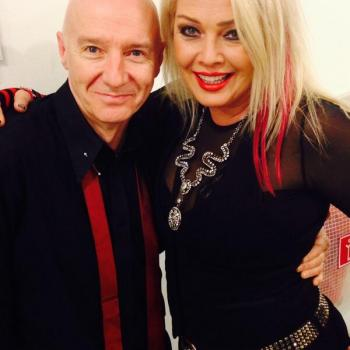 Midge Ure and Kim Wilde backstage in Hamburg during the Rock meets Classic tour, April 1, 2014