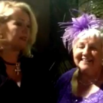 Kim Wilde and Perry Ap Gwynedd's mum performing 'Walk right back' on camera