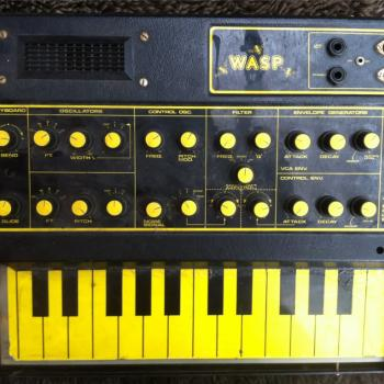 Ricky Wilde's Wasp synthesizer (photo June 6, 2012)