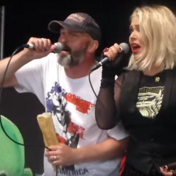 Lawnmower Deth and Kim Wilde performing 'Watch out granma' on June 11, 2016