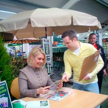 Kim during a book signing at Wyevale in Bury St. Edmunds, March 26, 2005