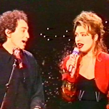 Michel Berger and Kim performing 'You have to learn to live alone' in the French TV programme 'Champs Elysees', May 12, 1990.