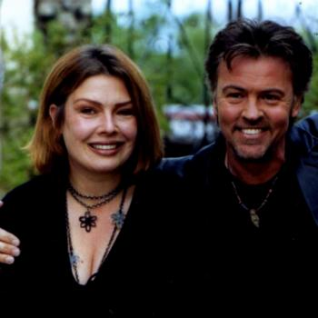Kim and Paul Young in a promotional photo for the Here and Now Tour 2001