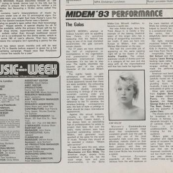 Music & Video Week (UK), February 12, 1983