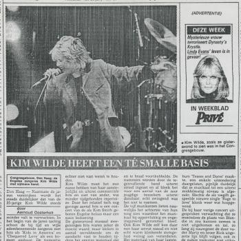 Haagsche Courant (Netherlands), March 31, 1985