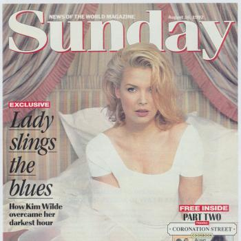 Sunday - News of the world magazine (UK), August 16, 1992