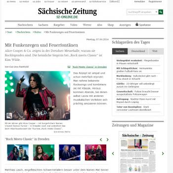 Sächsische Zeitung website (Germany), April 7, 2014