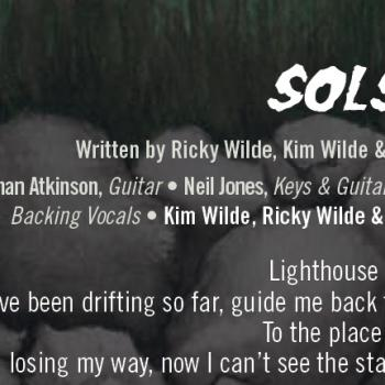 Part of the lyrics of 'Solstice' in the CD booklet of 'Here come the aliens'