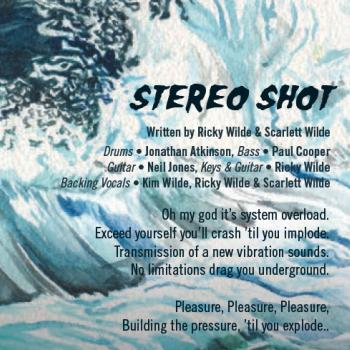 Part of the lyrics of 'Stereo shot' in the CD booklet of 'Here come the aliens'