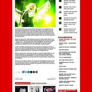 Maximum volume music website (UK), April 18, 2019