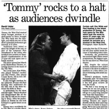 The Independent (UK), January 23, 1997