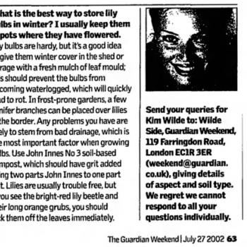 The Guardian (UK), July 27, 2002