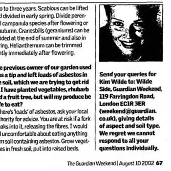 The Guardian (UK), August 10, 2002