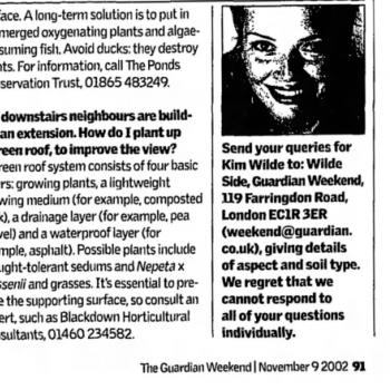 The Guardian (UK), November 9, 2002