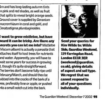 The Guardian (UK), December 7, 2002