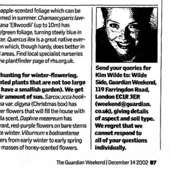 The Guardian (UK), December 14, 2002