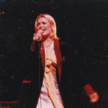 Kim Wilde performing 'Rescue Me' at the Symphony Hall in Birmingham, 16 December 1994