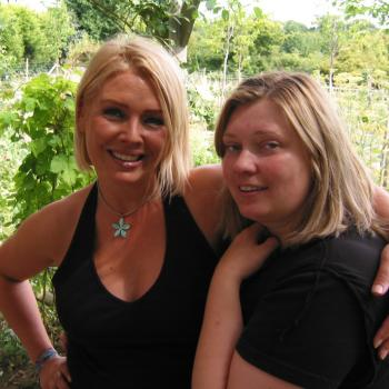 Katrien Vercaigne and Kim Wilde in 2005