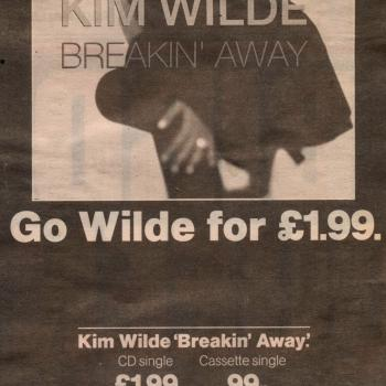 Our Price advert for the single 'Breakin' away'