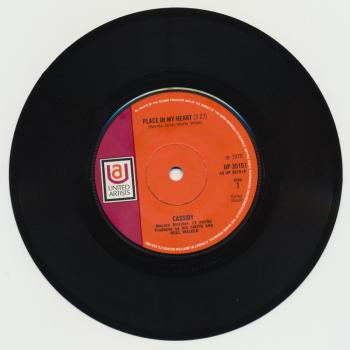 "The 7"" single 'A place in my heart'"