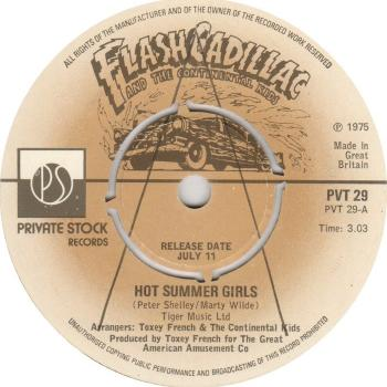 "The 7"" single 'Hot summer girls'"