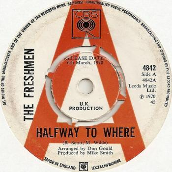 "The 7"" single 'Halfway to where' (UK promotional single)"