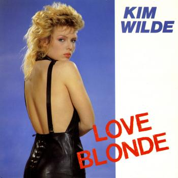 "Love blonde - UK 7"" single cover"