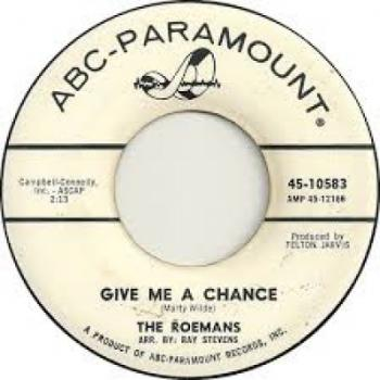 "The 7"" single 'Give me a chance'"