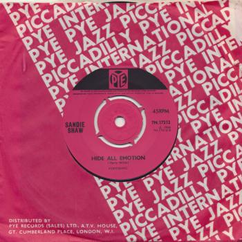 "The 7"" single 'Think sometimes about me'"