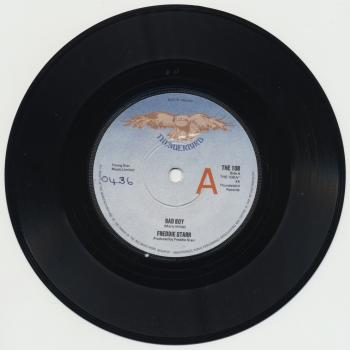 "The 7"" single 'Bad boy'"