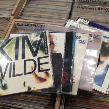 "Stand 429: Octopus Music from France sells (mainly) French 7"" singles by Kim Wilde, prices ranging between 2 and 10 euros"