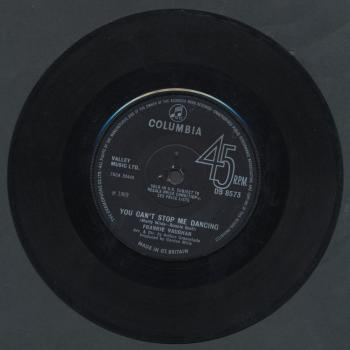 "'You can't stop me dancing' on the B-side of the 7"" single 'The same old way'"