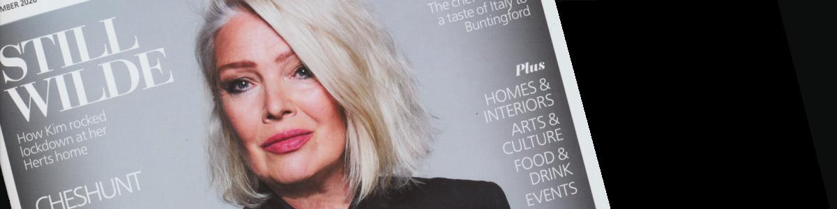 Kim Wilde on the cover of Hertfordshire Living, September 2020