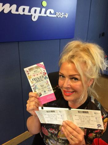 The RHS Hampton Court Palace Flower Show starts tomorrow. I've got my tickets & can't wait! If you fancy winning some, send me a song request now and be entered into the draw. www.magic.co.uk/kimwilde