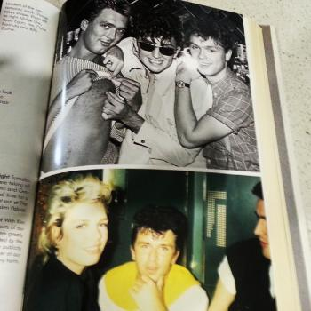 Steve Strange's autobiography features a pic of Kim and himself. Posted by @traf__40. (April 19, 2015, 9:53am)