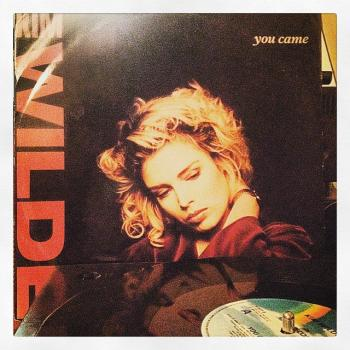 "And finally, another vinyl record on the player: Kim's 'You came' 12"" single. Posted by @sprakesy (April 30, 7:37pm)"