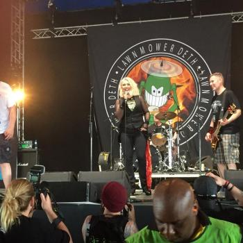 Kim Wilde performing live with Lawnmower Deth on Download Festival, posted by @mr_whitworth on June 11, 2016