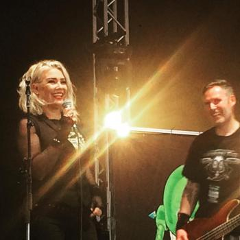 Kim Wilde performing live with Lawnmower Deth on Download Festival, posted by @jimothy_webb on June 11, 2016