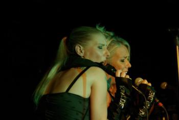 Kim Wilde and Sabrina Winter live in Frankfurt (Germany), October 19, 2008
