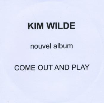 French promo CD sleeve