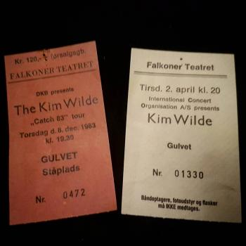 Original concert tickets from 1983 and 1985, posted by @lyra72 on January 8