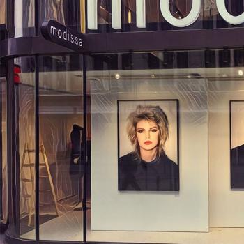 Portrait of Kim Wilde in the Modissa shop window, Zurich (Switzerland). Posted by @rayzwingli78 on February 9.