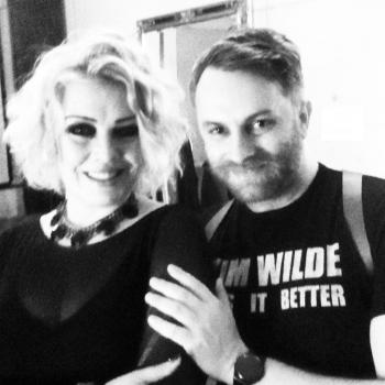 An old photograph of @alexxx_lanz and Kim Wilde, posted on February 28.