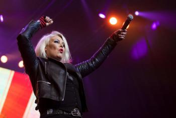 Kim Wilde live at Telenor Arena, Oslo (Norway), April 26, 2014