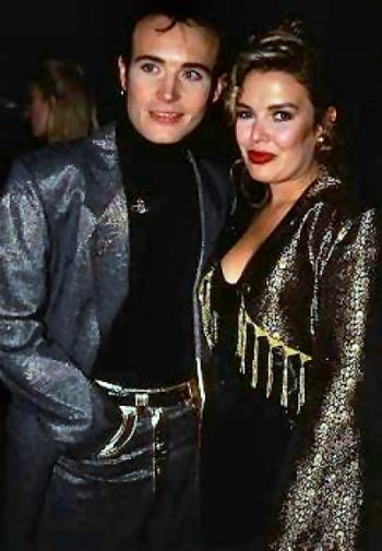 With Adam Ant, 1990