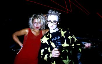 With Boy George, 1987