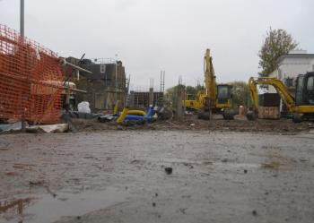 Chiswick Maternity Hospital being torn down, October 2010