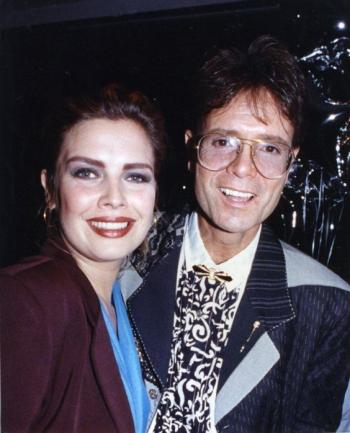 With Cliff Richard, 1990